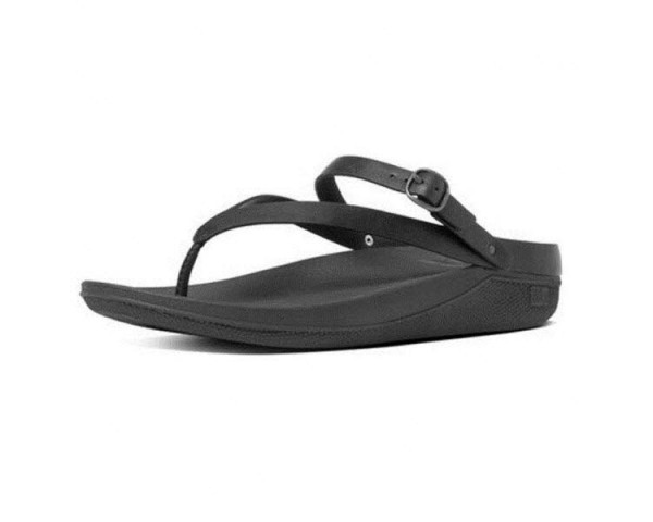 Flip Leather Sandal All Black
